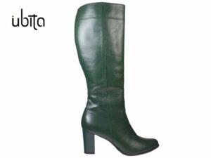 Cizme dama verzi din piele naturala si toc mediu la comanda VC0063-Ansley
