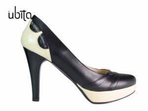 Pantofi dama cu platforma din piele naturala la comandaV0468-Mae