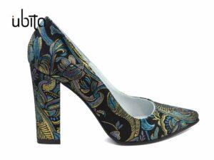 Pantofi dama eleganti de seara colorati din piele naturala la comanda V0621-Kaelyn