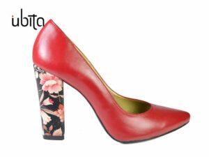 Pantofi dama cu toc gros din piele naturala la comanda V0621-Chanel