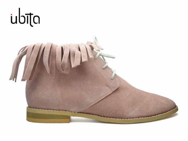 Pantofi cu franjuri casual dama din piele intoarsa la comanda FFC0021-Jordyn