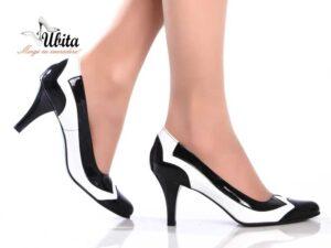 Pantofi piele dama cu toc mediu la comandaV0602-Abby