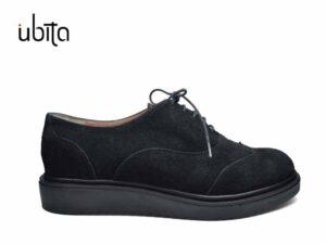 Pantofi oxford dama negri din piele naturala la comanda F0020-Jaycee