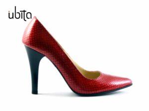 Pantofi rosii dama Stiletto din piele naturala la comanda