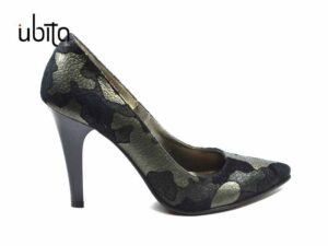 Pantofi Stiletto dama piele naturala cu imprimeu elegant la comanda V0621-Kaylie