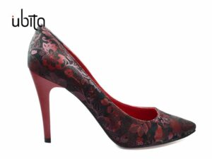 Pantofi rosii Stiletto piele naturala la comanda FFC0013-Hadley