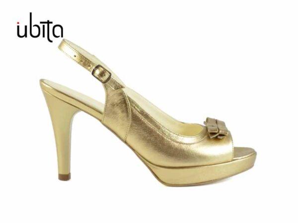Sandale aurii cu platforma din piele naturala la comanda V0568-Lyric