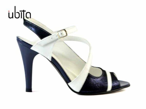 Sandale dama piele naturala bleumarin la comanda VPr0014-Kiara