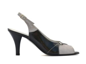 Sandale lac dama cu toc mic si bareta la spate V0137-Millie